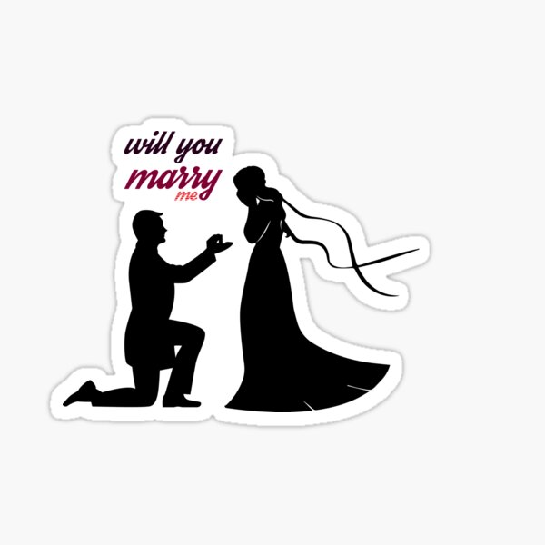 will you marry me ? Sticker