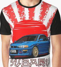 Subaru Impreza 22B WRX STI - R.I.P. EVO (Blue) Graphic T-Shirt