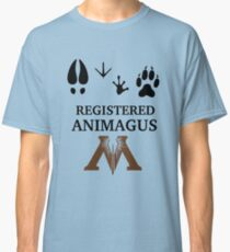 Registered Animagus - Foot Prints - Ministry of Magic Classic T-Shirt
