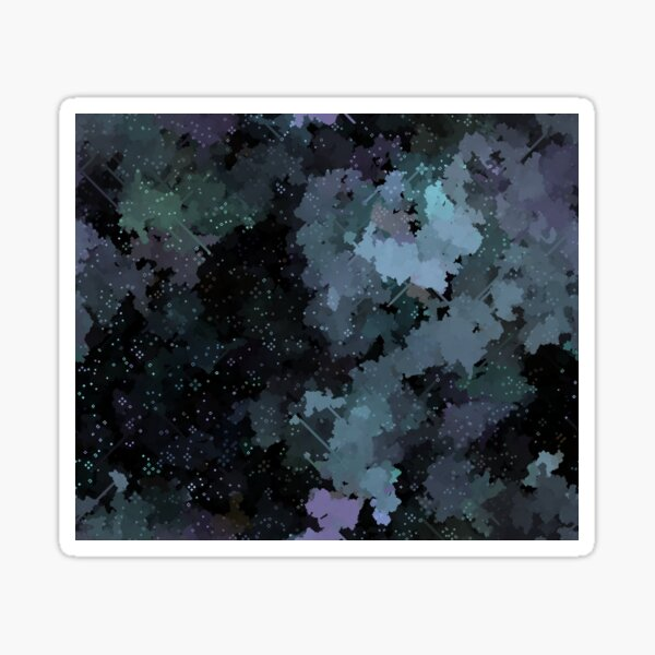 Dark Pixel Art Cloudy Sky Sticker