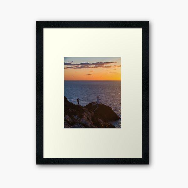Sunset at South Stack Framed Art Print