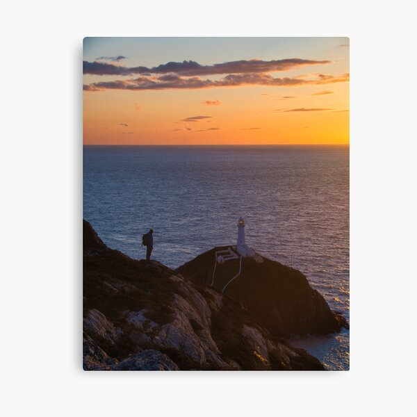 Sunset at South Stack Canvas Print