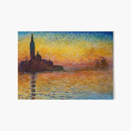 San Giorgio Maggiore At Dusk Painting by Claude Monet Art Board Print