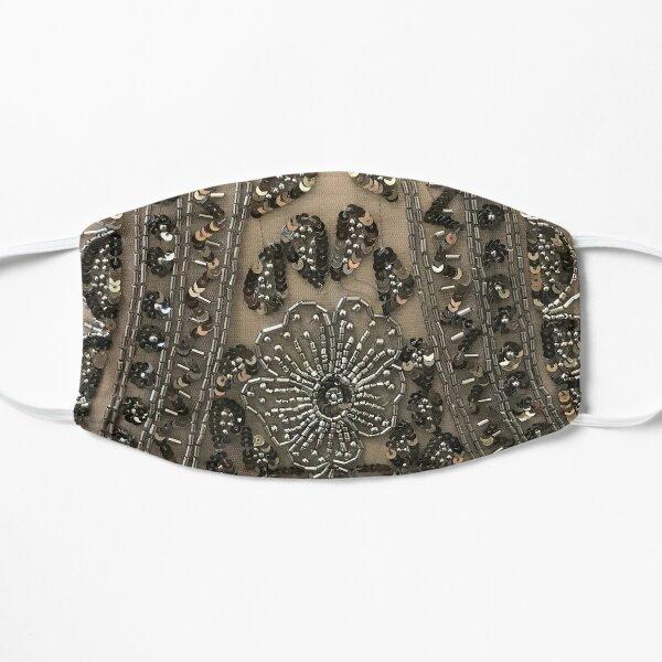 Parisian Bling Vintage Flapper Sequin Fabric Flat Mask