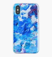 Abstract acrylic painting - a snowstorm. iPhone Case/Skin