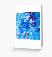 Abstract acrylic painting - a snowstorm. Greeting Card