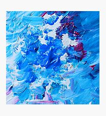 Abstract acrylic painting - a snowstorm. Photographic Print
