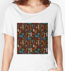Shamanic dance. Aboriginals art motifs. Women's Relaxed Fit T-Shirt