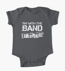 I'm With The Band - Tenor Drums (White Lettering) Kids Clothes