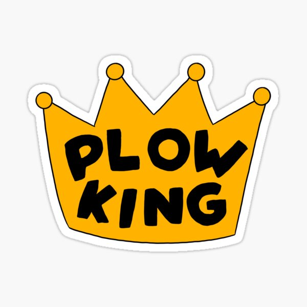 The Simpsons Plow King Sticker
