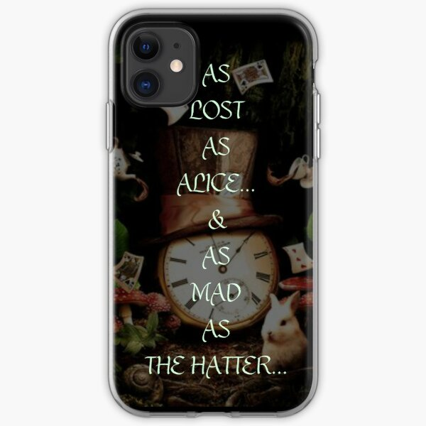 MAD AS THE HATTER iPhone Soft Case