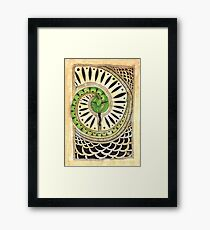 Little green snake Framed Print
