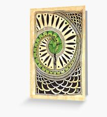 Little green snake Greeting Card