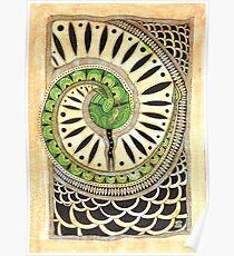 Little green snake Poster