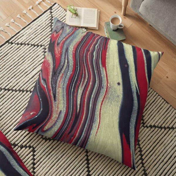 Beautiful Wavy Pattern Floor Pillow