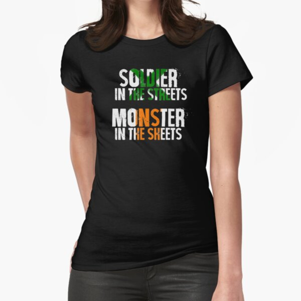 Soldier/Monster Fitted T-Shirt