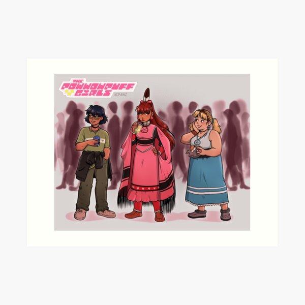 Powwow Puff Girls Art Print