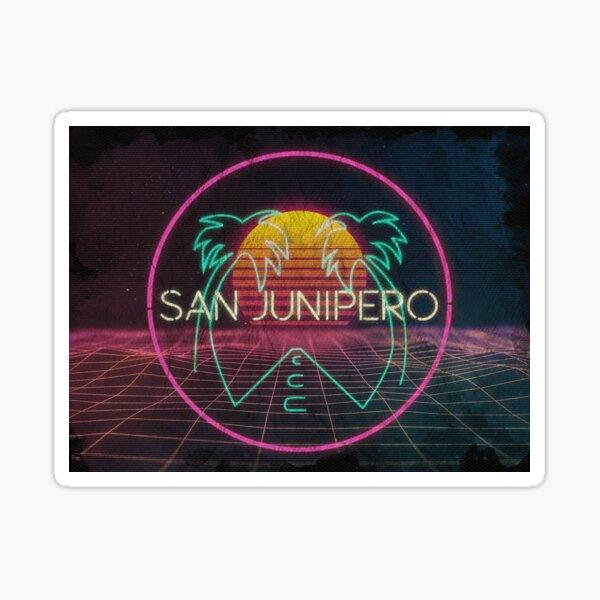 Cartel de Black Mirror San Junipero- Netflix Pegatina
