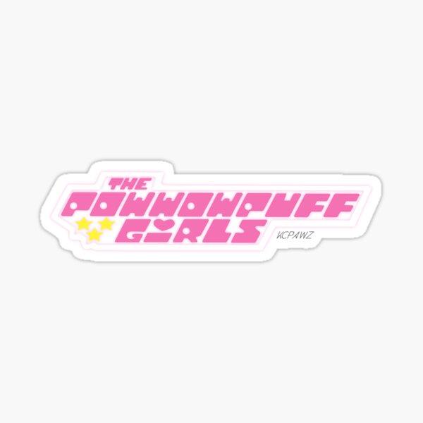 Powwow Puff Girls logo Sticker