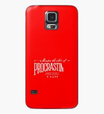 Master the Art of Procrastination / White Case/Skin for Samsung Galaxy