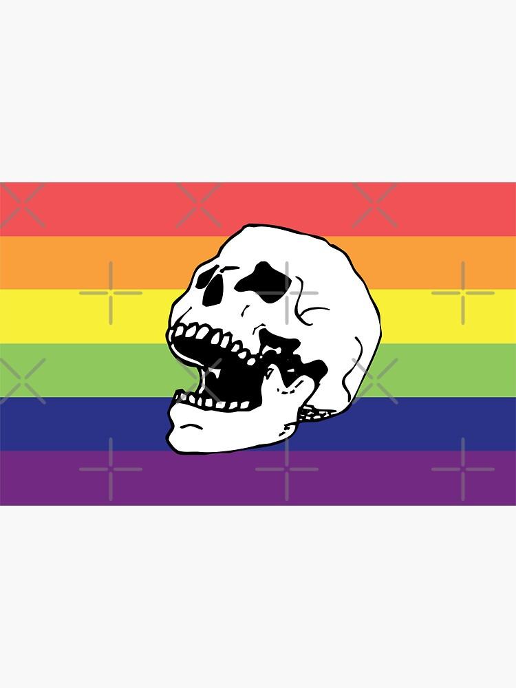rainbow pride flag skull  by craftordiy