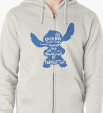 Stitch Ohana means family Zipped Hoodie