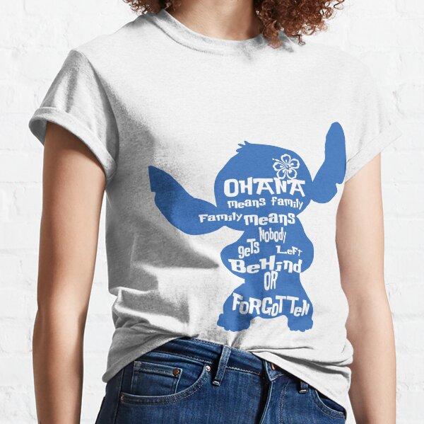 Stitch Ohana significa familia Camiseta clásica