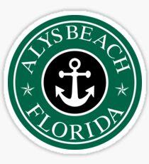 ALYS BEACH, FLORIDA ANCHOR VACATION COFFEE STYLE STICKER Sticker