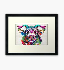Colorful Pig Art - Squeal Appeal - By Sharon Cummings Framed Print