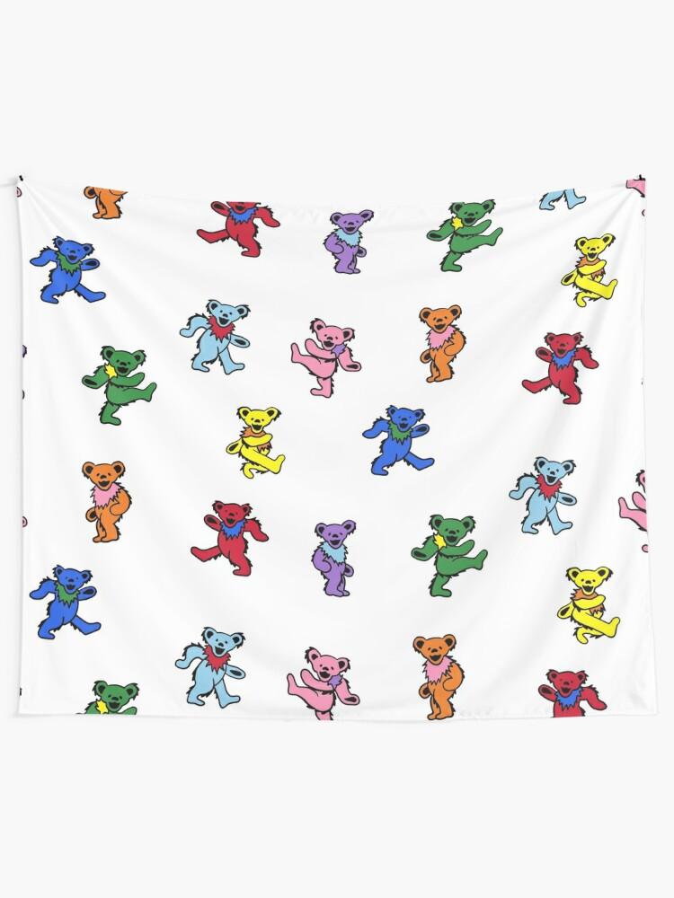 Alternate view of Mini Dancing Bears Tapestry