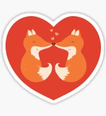Lovers foxes. Sticker