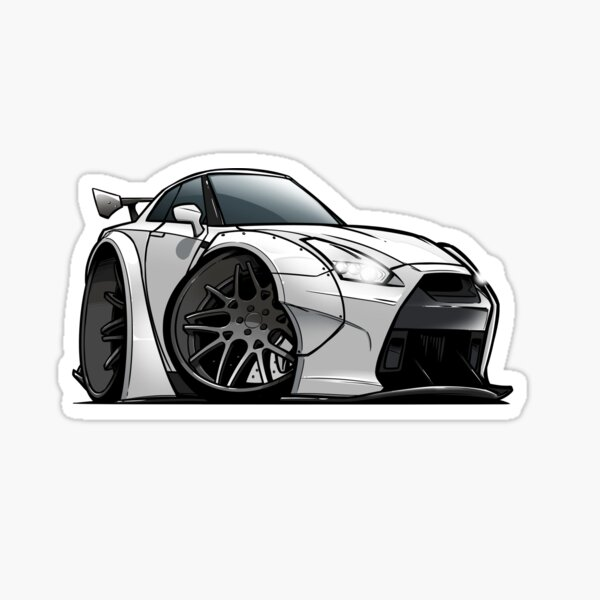Nissan R35 GTR Sticker