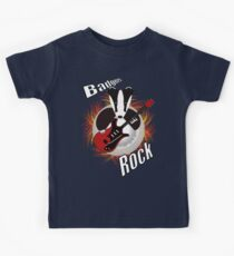 Badgers rock with text Kids Tee