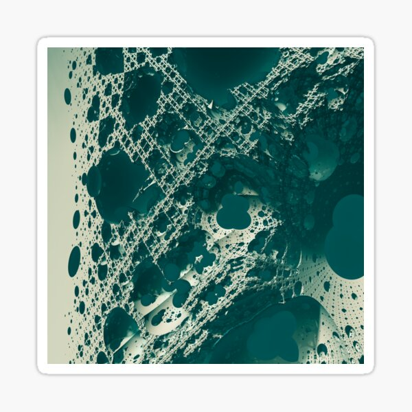 Abstract fractal Sticker