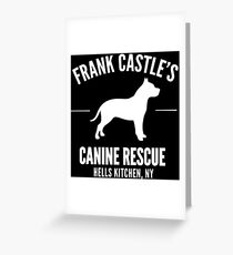 Frank Castle - Dog Rescue Greeting Card