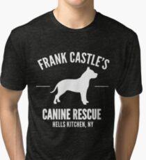 Frank Castle - Dog Rescue Tri-blend T-Shirt