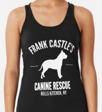 Frank Castle - Dog Rescue Racerback Tank Top