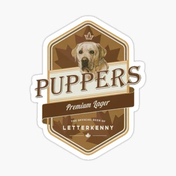 Puppers Premium Lager - Professionally Designed Sticker