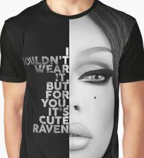 Rabe Text Porträt Grafik T-Shirt