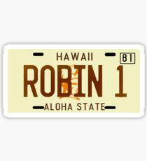 Magnum PI License Plate Sticker