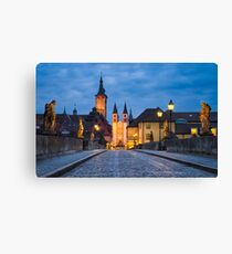 Blue Hour in Wuerzburg Canvas Print