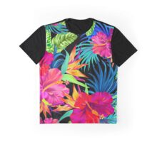 Drive You Mad Hibiscus Pattern Graphic T-Shirt