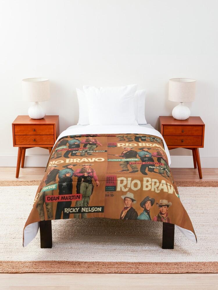 Alternate view of Rio Bravo Dell Comic Book Cover Comforter