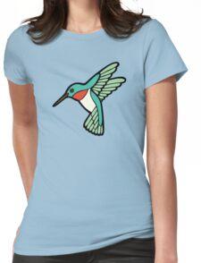 Hummingbird Pattern  Womens Fitted T-Shirt