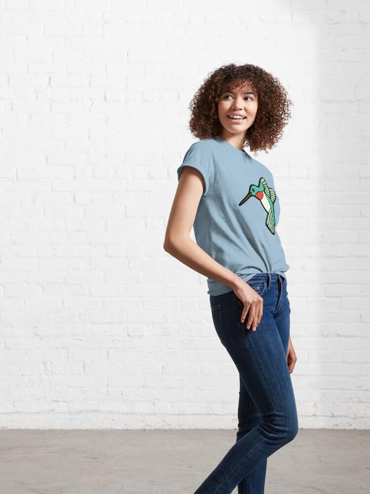 Alternate view of Hummingbird Pattern  Classic T-Shirt