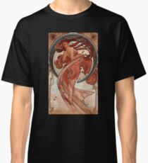 'Dance' by Alphonse Mucha (Reproduction) Classic T-Shirt