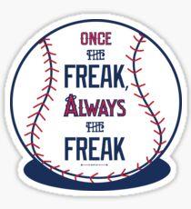 "Tim Lincecum ""The Freak"" Angels shirt Sticker"