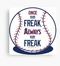 "Tim Lincecum ""The Freak"" Angels shirt Canvas Print"