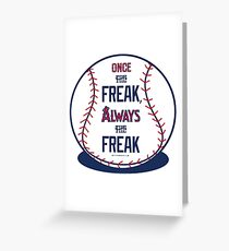 "Tim Lincecum ""The Freak"" Angels shirt Greeting Card"