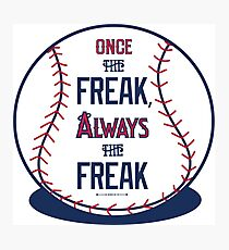 "Tim Lincecum ""The Freak"" Angels shirt Photographic Print"